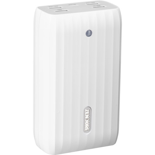 ZENDURE 20,100mAh X6 Power Bank and USB Hub with 45W Power Delivery & Quick Charge (White)