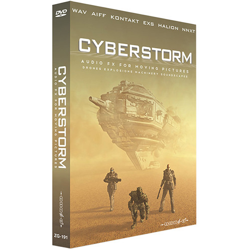 Zero-G Cyberstorm: Audio FX for Moving Pictures Sample Library (Electronic Download)