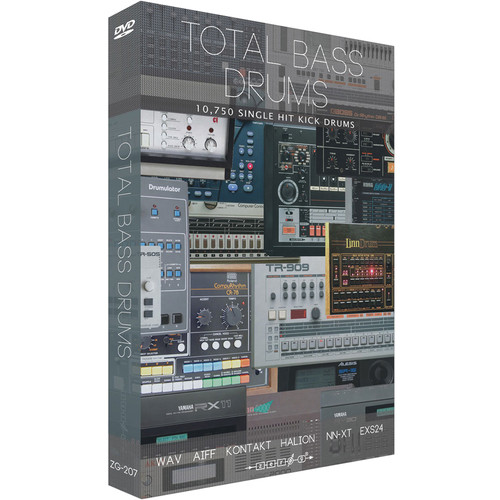 Zero-G Total Bass Drums - Sample Library (Electronic Download)