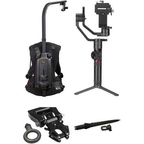"Zhiyun-Tech Crane-2 & Easyrig Minimax Kit with Kong 3/8""-16 QR Adapter and Umbrella"