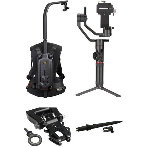 "Zhiyun-Tech Crane-2 & Easyrig Minimax Kit with Kong 1/4""-20 QR Adapter and Umbrella"
