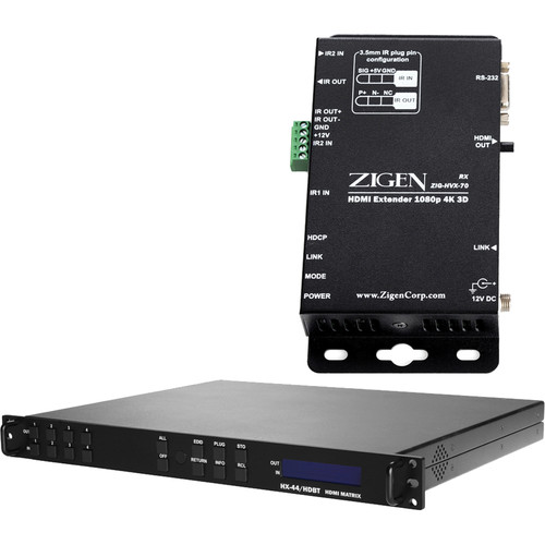 Zigen 4x4 Fixed HDMI HDbaseT Matrix Routing Switcher