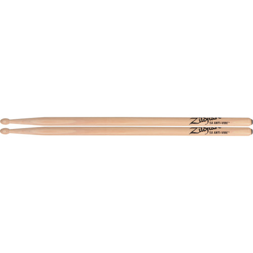 "Zildjian 5A Hickory Drumsticks with Oval Wood Tips (16"", Anti-Vibe, 1 Pair)"