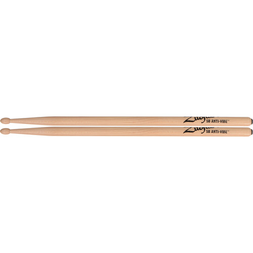 "Zildjian 5B Hickory Drumsticks with Tear-Drop Wood Tips (16"", Anti-Vibe, 1 Pair)"