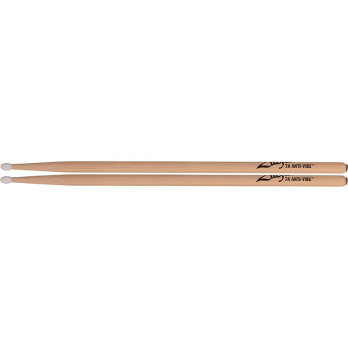 "Zildjian 7A Hickory Drumsticks with Round Nylon Tips (15.5"", Anti-Vibe, 1 Pair)"
