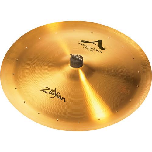 "Zildjian 22"" A Zildjian Swish Knocker Cymbal with 20 Rivets"