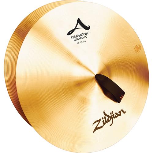 """Zildjian 18"""" A Zildjian Symphonic German Tone Hand Cymbals (Pair)"""
