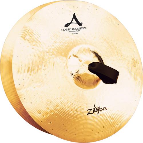 """Zildjian 18"""" A Zildjian Classic Orchestral Selection Medium Heavy Hand Cymbals (Pair)"""