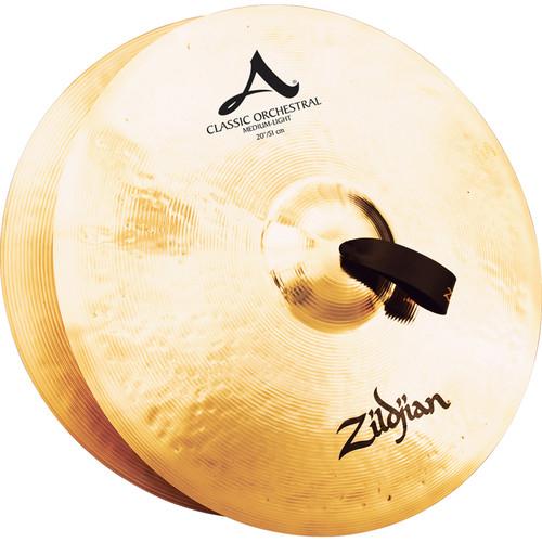 """Zildjian 20"""" A Zildjian Classic Orchestral Selection Medium Light Hand Cymbals (Pair)"""