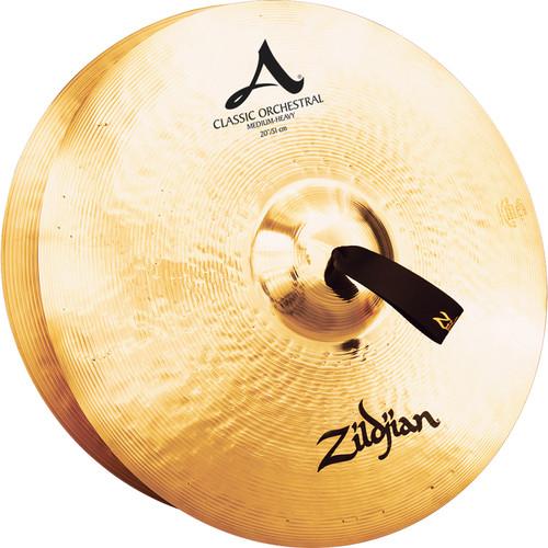 """Zildjian 20"""" A Zildjian Classic Orchestral Selection Medium Heavy Hand Cymbals (Pair)"""