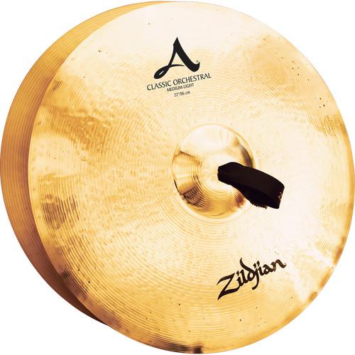 """Zildjian 22"""" A Zildjian Classic Orchestral Selection Medium Light Hand Cymbals (Pair)"""