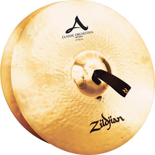 """Zildjian 17"""" A Zildjian Classic Orchestral Selection Medium Hand Cymbals (Pair)"""