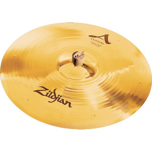 "Zildjian 20"" A Custom Sizzle Ride Cymbal with 6 Rivets"