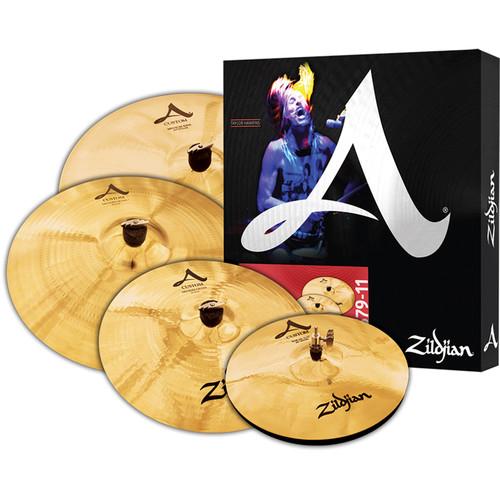 "Zildjian A Custom Cymbal Set with 14"" Hats, 16"" Crash, 18"" Crash, 20"" Medium Ride"