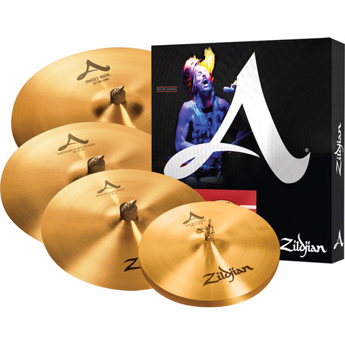 "Zildjian A Zildjian Cymbal Set with 14"" New Beat Hats, 16"" Medium Thin Crash, 18"" Medium Thin Crash, 21"" Sweet Ride"