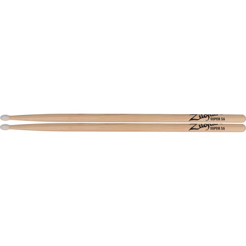 Zildjian Super 5A Nylon Natural Drumsticks (1 Pair)