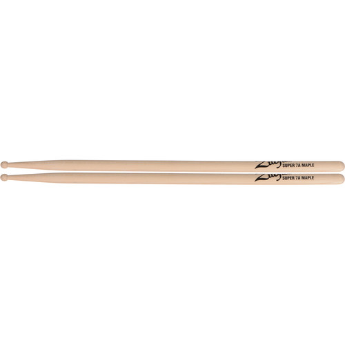 "Zildjian Super 7A Maple Drumsticks with Wood Round Tips (16"", Natural, 1 Pair)"