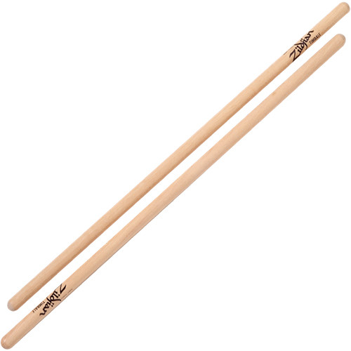 "Zildjian Timbale Hickory Drumsticks with Wood Butt Tips (16"", Natural, One Pair)"