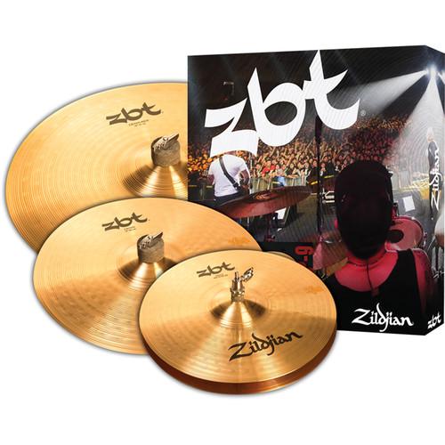 """Zildjian ZBT Starter Cymbal Set with 13"""" ZBT Hats, 14"""" ZBT Crash, 18"""" ZBT Crash Ride"""