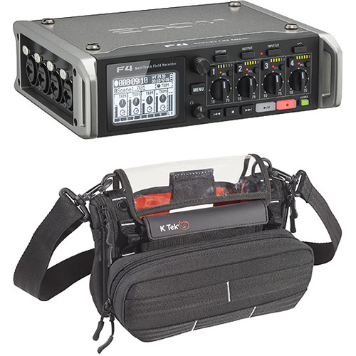 Zoom F4 Multi-Track Field Recorder and Audio Bag Kit