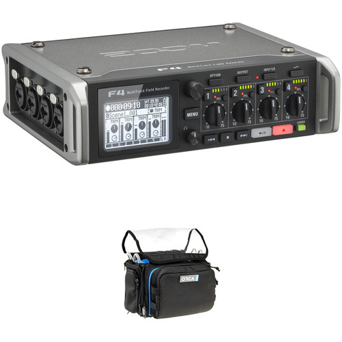 Zoom F4 Multitrack Field Recorder Kit with ORCA OR-28 Mini Bag