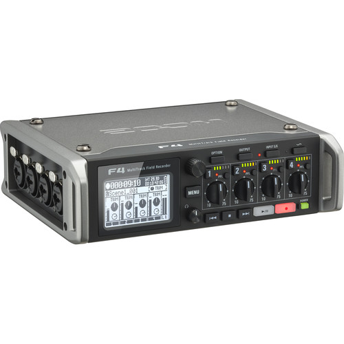 Zoom F4 Multitrack Field Recorder with F-Control Mixer & Case