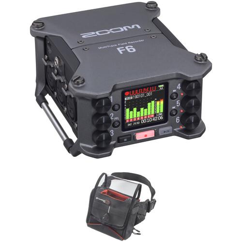 Zoom F6 6-Input / 14-Track Multitrack Field Recorder Kit with K-Tek Stingray F6 Bag