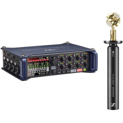 Zoom F8n Field Recorder Kit with Sennheiser AMBEO VR 3D Microphone