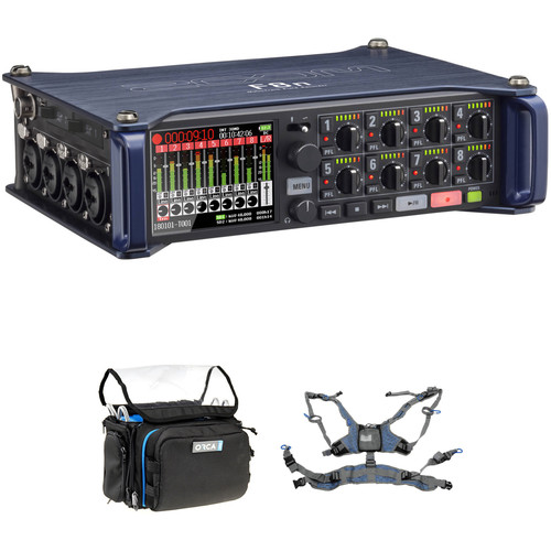 Zoom F8n Multitrack Field Recorder Kit with ORCA OR-28 Mini Bag & Harness