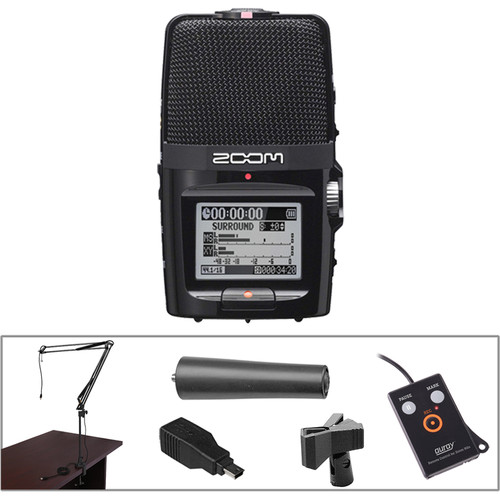 Zoom H2n Handy Recorder Desktop Recording Kit