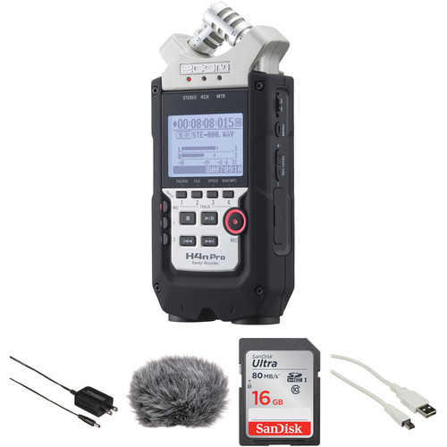 Zoom H4n Pro 4-Channel Handy Recorder and Essential Accessories Kit