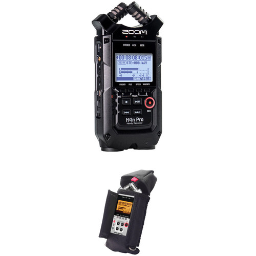 Zoom H4n Pro 4-Input / 4-Track Portable Handy Recorder Kit with Protective Case (Black)