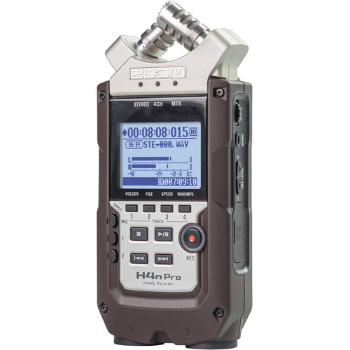 Zoom H4n Pro 4-Input / 4-Track Portable Handy Recorder with Onboard X/Y Mic Capsule (Dark Brown)