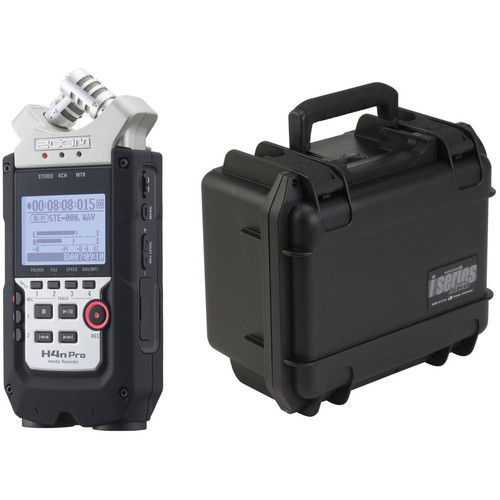 Zoom H4n Pro 4-Input / 4-Track Recorder and Custom-Fit Waterproof Case Kit
