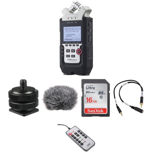 Zoom H4nPro 4-Channel Recorder and On-Camera DSLR Audio Kit