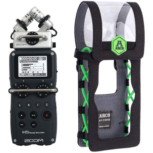Zoom H5 Handy Recorder with Interchangeable Microphone System and Corresponding Pouch Kit