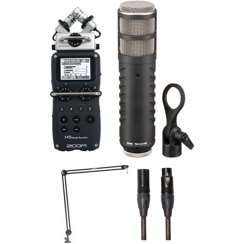 Zoom H5 Recorder Podcast Kit with RØDE Procaster Mic