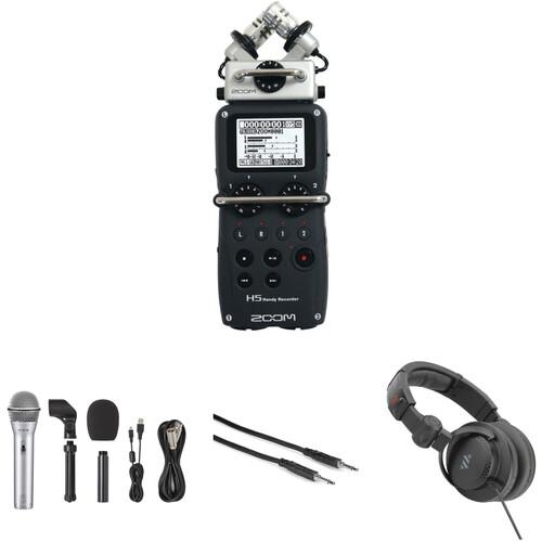 Zoom H5 Kit Podcasting Kit with Samson Q2U Microphone