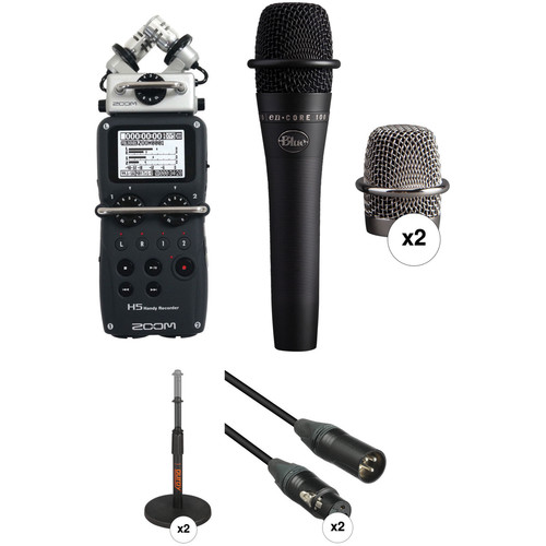 Zoom H5 Recorder Podcast Kit with Two enCORE 100 Mics