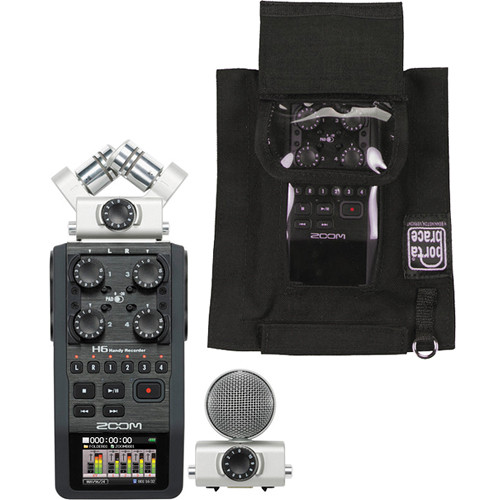 zoom h6 handy recorder and case kit b h photo video. Black Bedroom Furniture Sets. Home Design Ideas