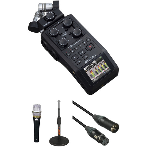 Zoom H6 Recorder Podcast Kit with enCORE 100 Microphone