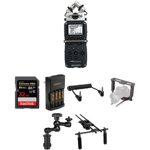 Zoom HDSLR Shoulder Mount Video Rig Two-Channel Audio Solution Kit