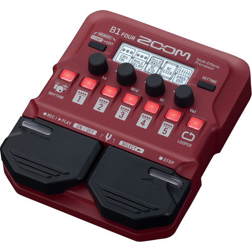 Zoom B1 Four Electric Bass Effects Processor