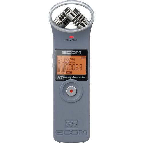 Zoom H1 Ultra-Portable Digital Audio Recorder (Gray)