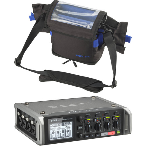 Zoom Zoom F4 Multitrack Field Recorder Kit with Protective Case