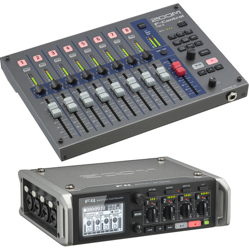 Zoom F4 Multitrack Field Recorder Kit with F-Control Mixer