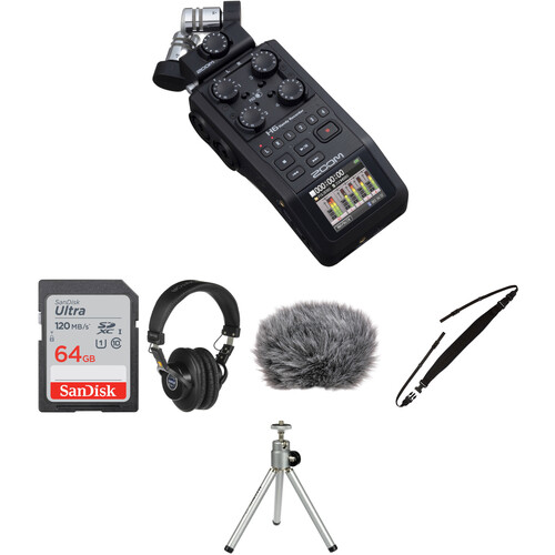 Zoom H6 Portable Recorder Field Kit