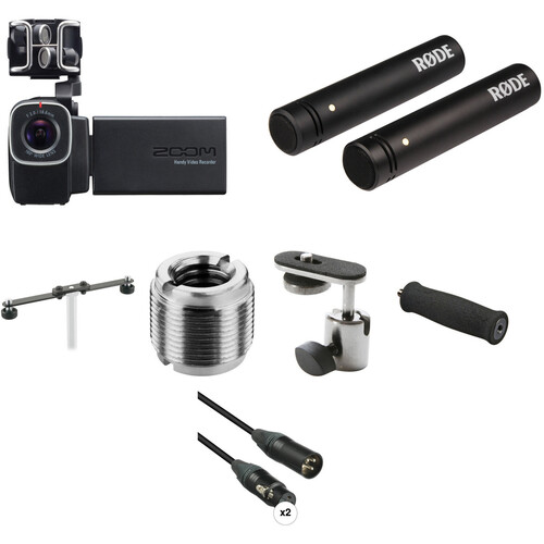 Zoom Q8 Video Recorder Single-Person Rig with Stereo Audio Recording Kit