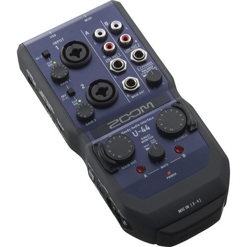 Zoom U-44 Portable 4x4 USB Handy Audio/MIDI Interface