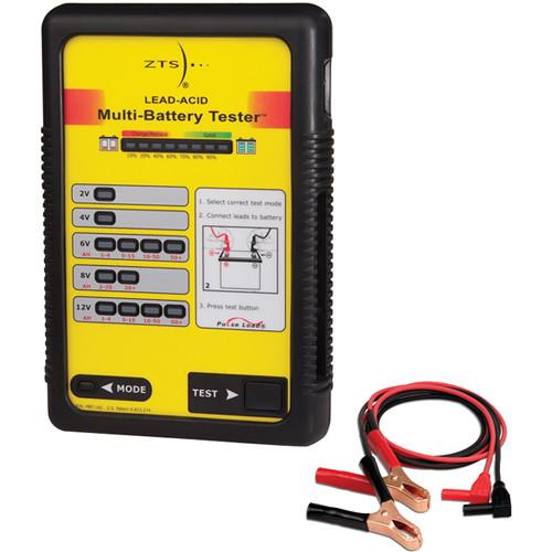 ZTS MBT-LA2 Lead Acid Multi-Battery Tester with Plier-Type Test Lead Set & K-MBTLA2 Accessory Kit